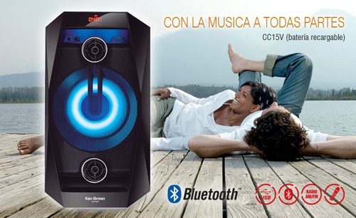 torre parlante portatil bluetooth usb sd aux ken brown ps801