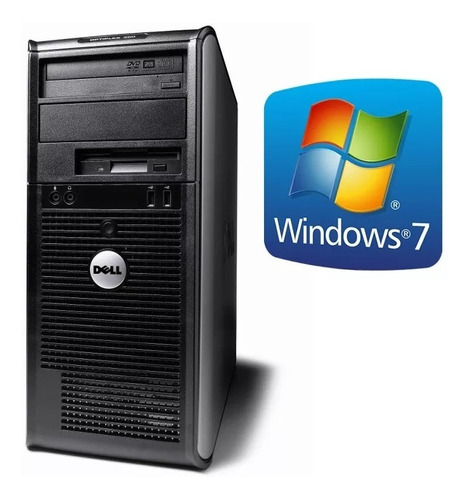 torre pc computadora core 2 duo 4gb 160gb win c/perifericos