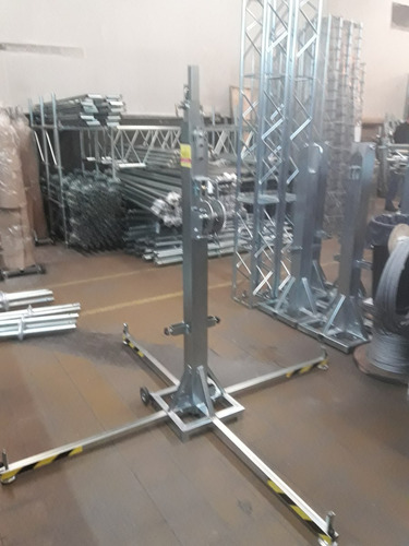 torre telescopica 5.20mt 200kg,movil,tr,array,tripode,led