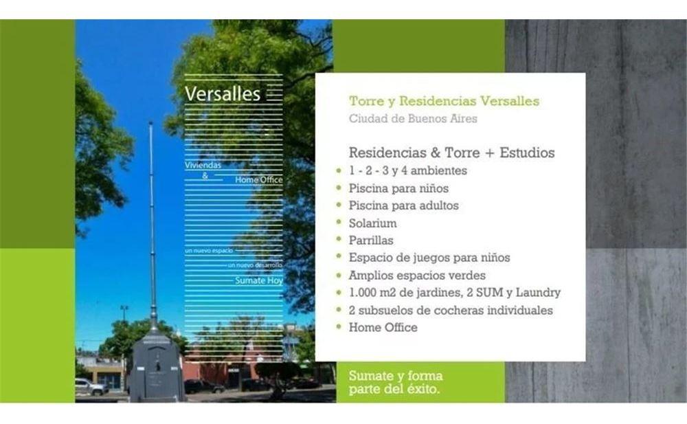 torre versalles - departamento - 1 amb - versalles