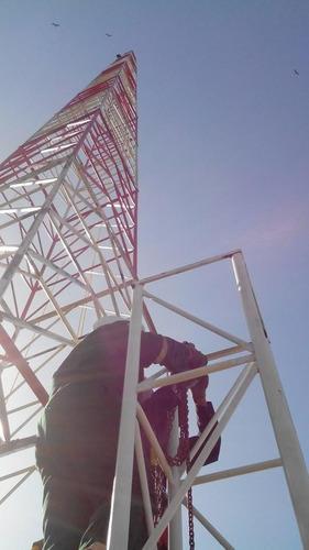 torres autosoportadas , arriostradas ventadas telescopicas