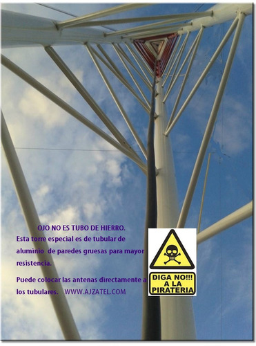 torres de aluminio tubular reforza, torre para antenas, wifi