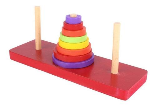 torres de hanoi madera pequeño didá - kg a $14990