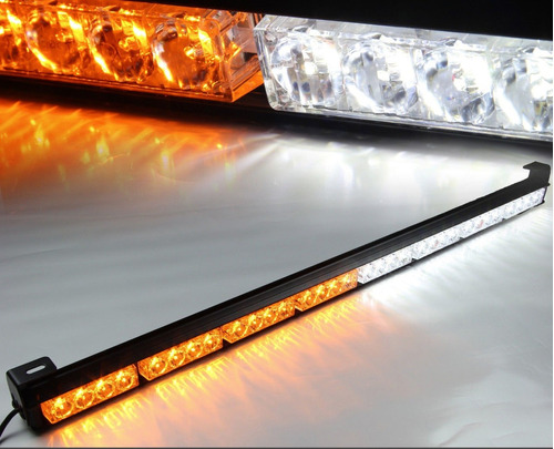 torreta barra estrobo de 32 leds policia ambulancia grua