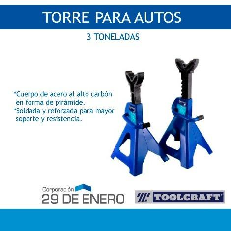 torreta / caballete para autos 3 toneladas - toolcraft