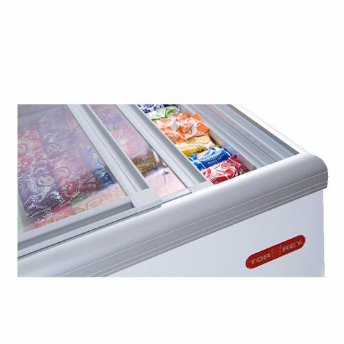 torrey chc-180p congelador horizontal tapa cristal xxcon