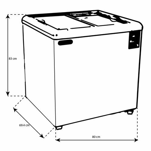 torrey chc-80p congelador horizontal tapa cristal xxcon