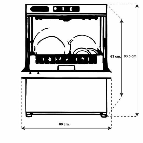 torrey lv-450 lavavajillas 1 ciclo capacidad 26 litros xxlav
