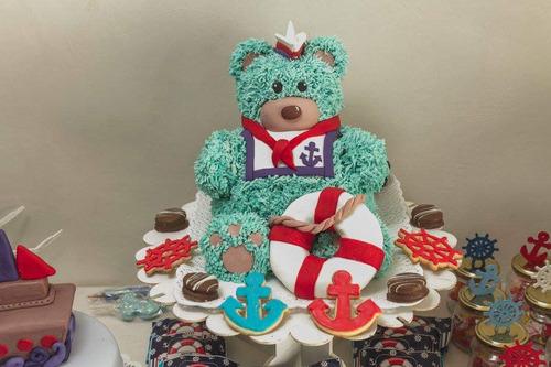 torta 3d forma de oso infantiles casamiento 15 añ comestible