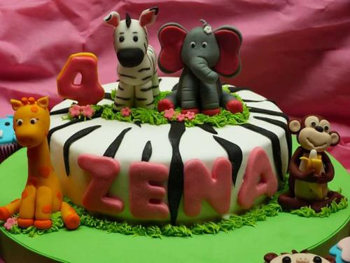 torta animales de la selva