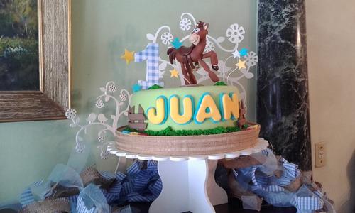 torta animales de la selva y granja