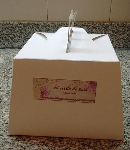 torta artesanal decorada - mini corazon - 800 grs