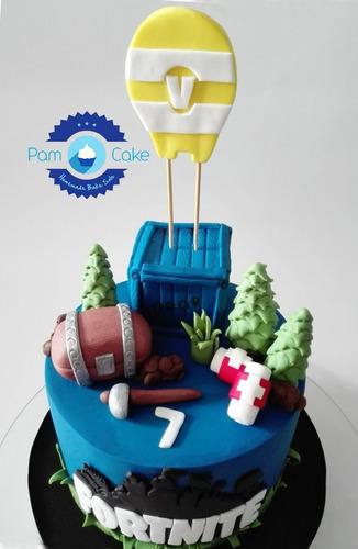 torta artesanal fortnite personalizada