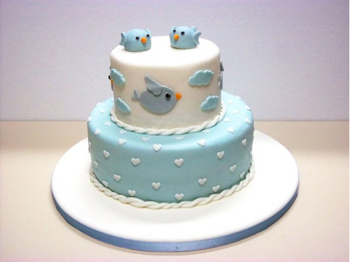 torta bautizo para 40 personas