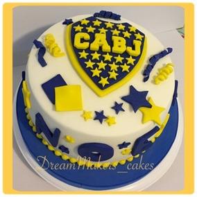 Torta Boca Juniors Tortas Decoradas Tortas Club De Futbol