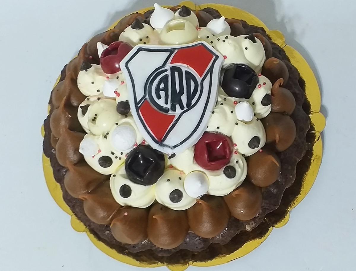 Torta Brownie Decorada Fútbol River Plateequipos De Futbol