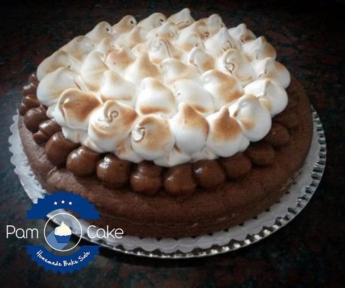 torta brownie o torta crema y frutas