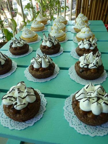 torta brownie - petit four - mesas dulces