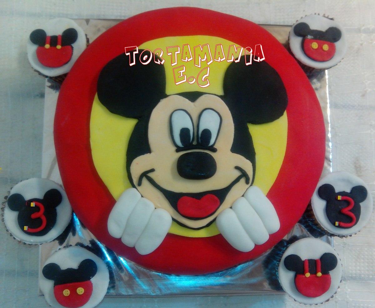Baño Para Torta Infantil:Torta Cara Mickey Y Minnie Baño Wilton , (precio X Kilo) – $ 450,00