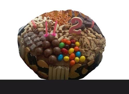 torta chocolate brownie marmoleada decorada pirulin fiesta
