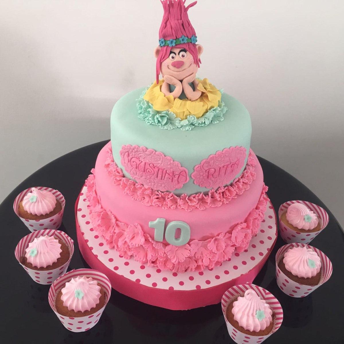 Torta cumplea os decorada 550 00 en mercado libre for Tortas decoradas faciles