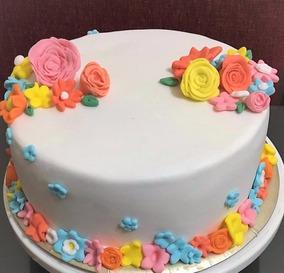 Torta Cumpleaños Infantiles Decoradas Caseras Flores Amor