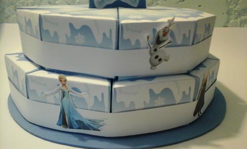 torta de cajitas de frozen para golosinas 20 porciones