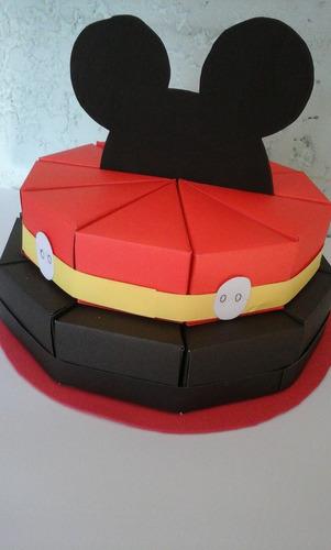 torta de cajitas de mickey para golosinas 20 porciones