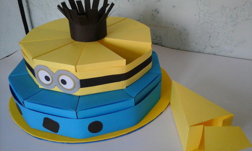 torta de cajitas de minions para golosinas 20 porciones