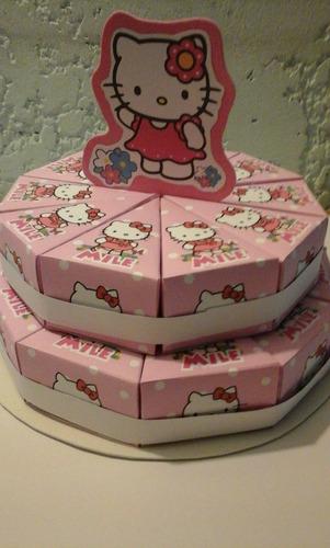 torta de cajitas kitty para golosinas 20 porciones