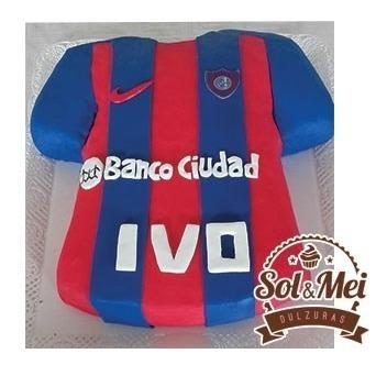 Torta De Camiseta De Futbol Equipos Decorada Cumpleaños