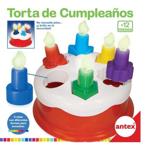 torta de cumpleaños antex velas para encastrar mundo manias