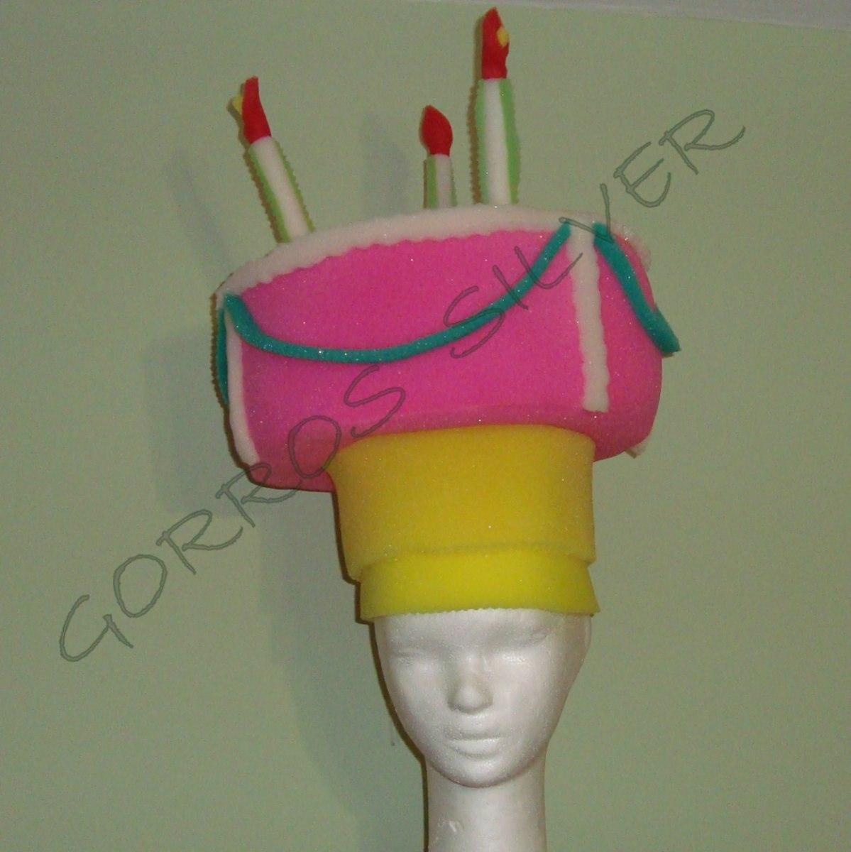 Torta De Cumpleaños En Gorro De Goma Espuma 437724fee92