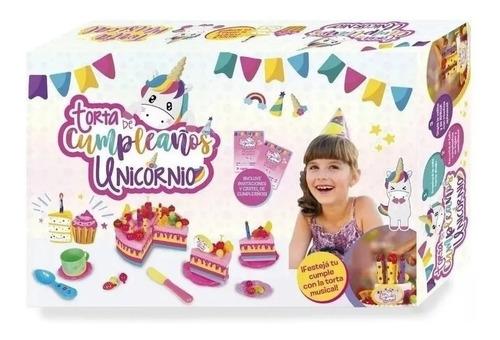torta de cumpleaños musical unicornio grande