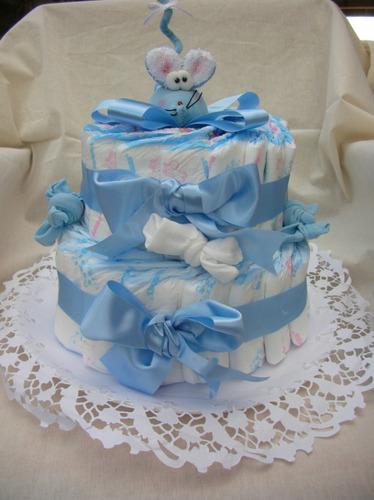 torta de pañales para bebés,nacimiento,baby shower,bautismo
