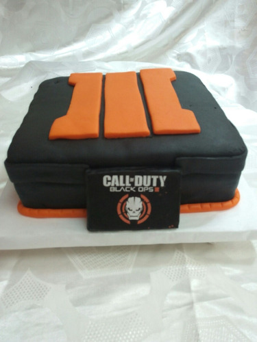 torta decorada call of duty black ops iii