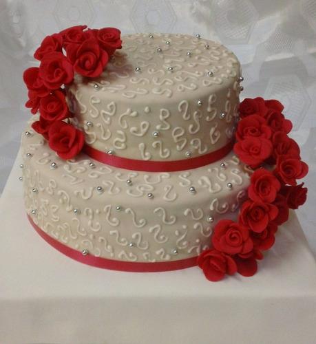 torta decorada casamiento,bodas, aniversario