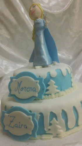 torta decorada de frozen