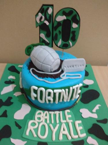 torta decorada fortnite batlle royale