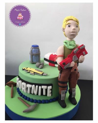torta decorada fortnite cookies alfajores cupcakes