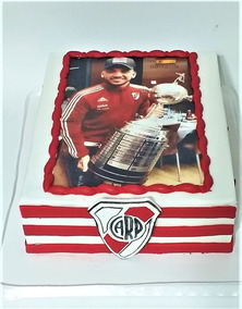 Torta Decorada Fútbol River Plate Con Lamina Comestible