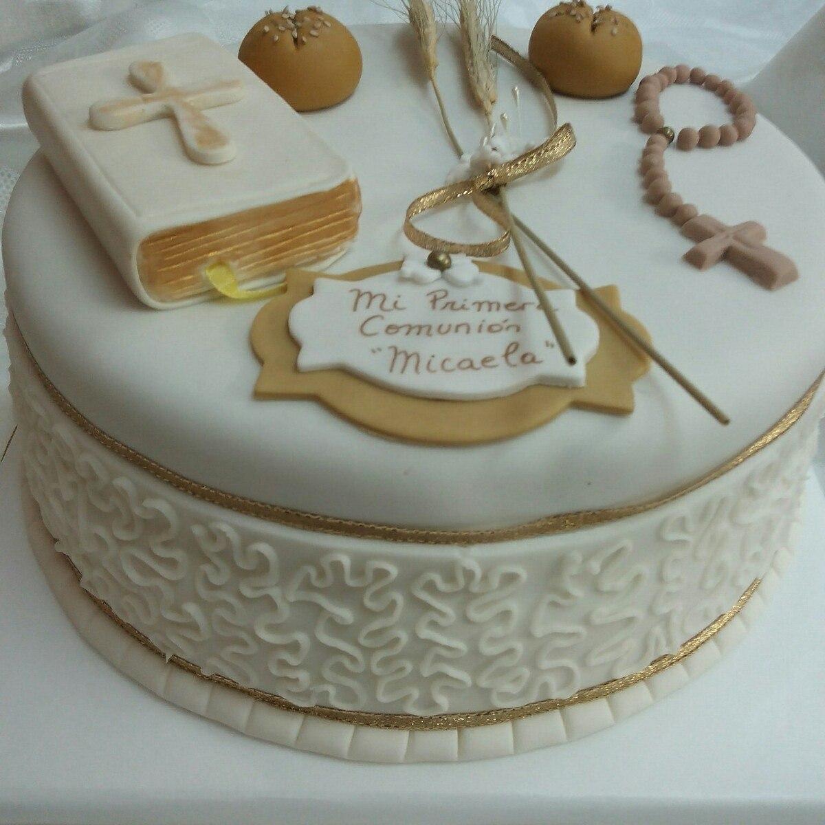 tortas de comunion y bautismo