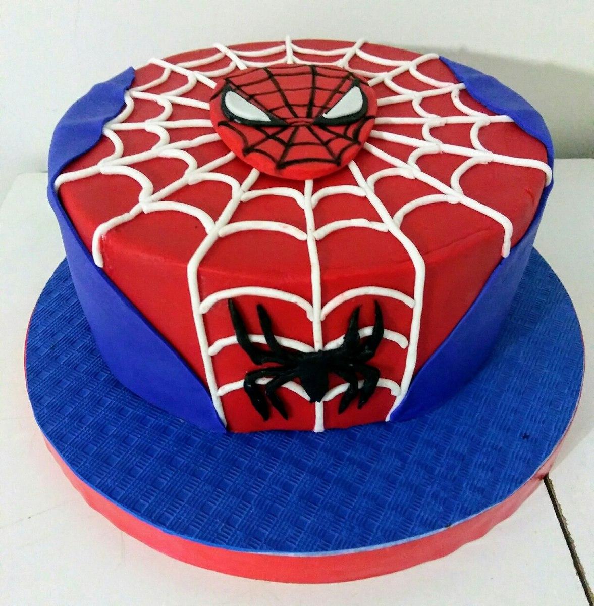 Torta Decoradas Spiderman Superheroes Hombre Araña