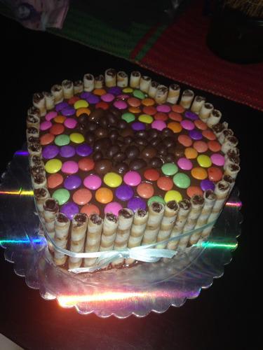 torta decorado golosinas dulces pirulin dandy no fondant