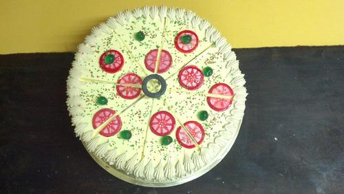 torta forma pizza tortas decoradas caseras tomamos pedido