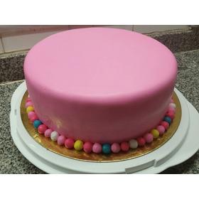 Torta Forrada Sin Adorno 24 Cm Varios Colores