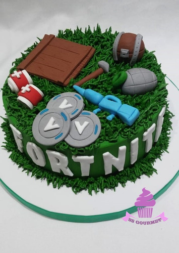 torta fortnite juego play granada moneda v tematica