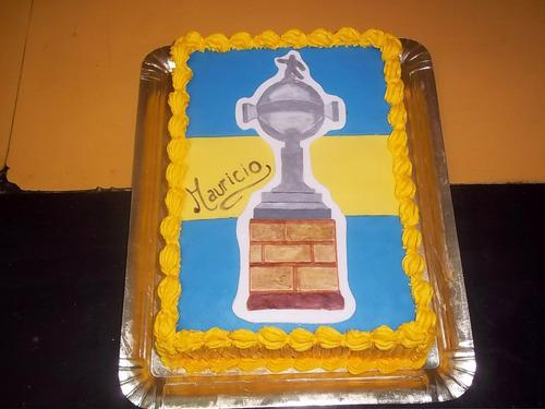 torta futbol boca juniors corazon decoradas caseras a pedido