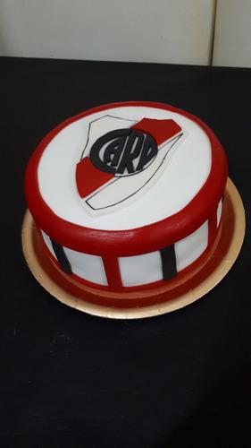 torta futbol river plate corazon decoradas tomamos pedido