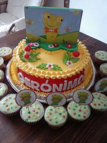 torta infantil más 24 cupcakes. super promo!!!